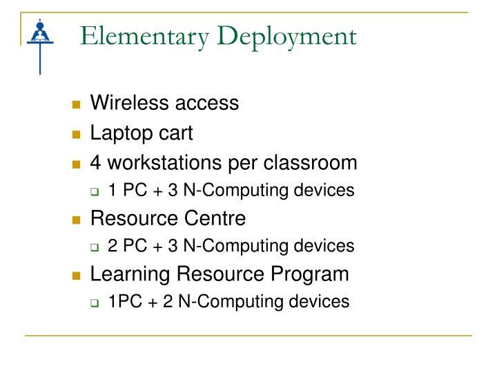 Elementary Deployment