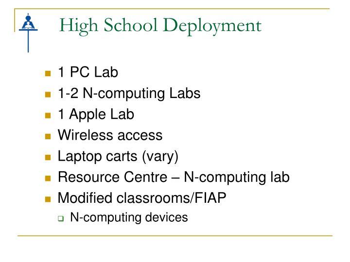 High School Deployment