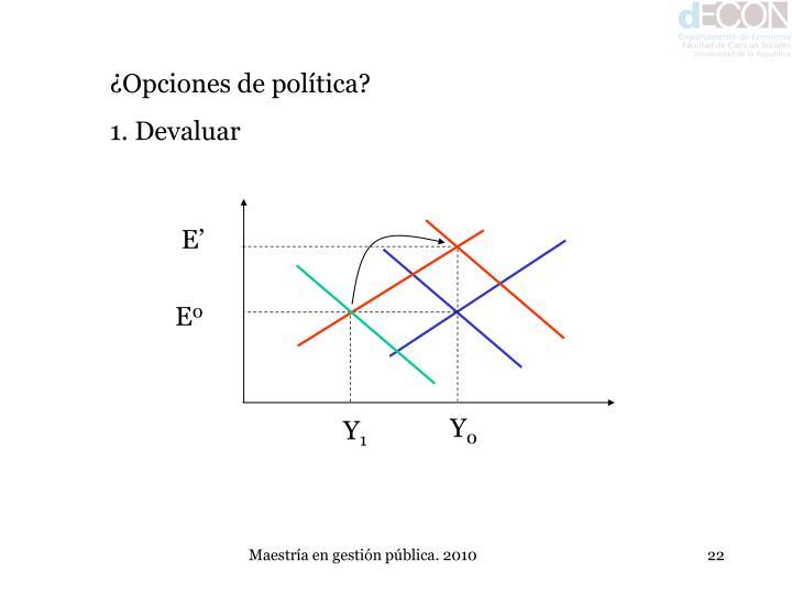 ¿Opciones de política?
