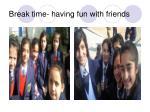 break time having fun with friends