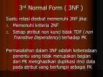 3 rd normal form 3nf