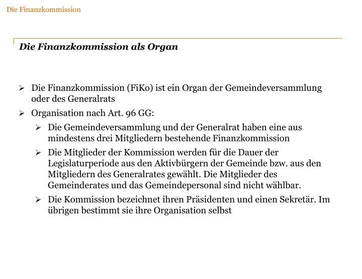Die Finanzkommission