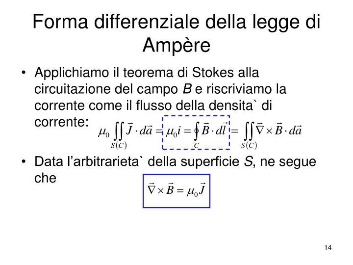 Forma differenziale della legge di