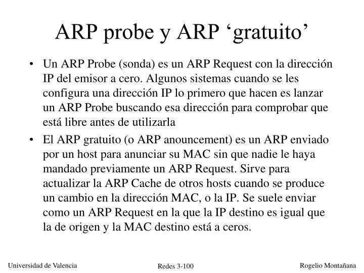 ARP probe y ARP 'gratuito'