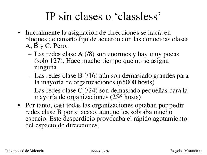 IP sin clases o 'classless'