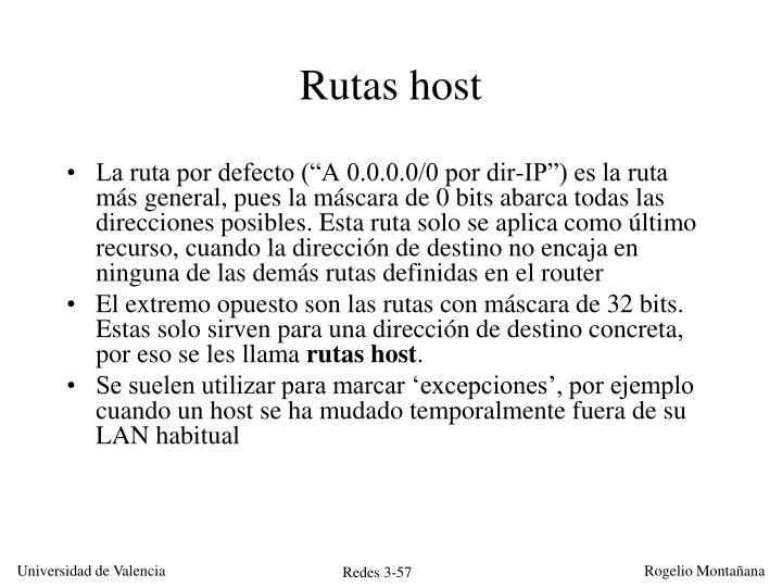 Rutas host