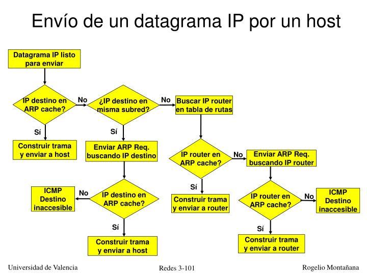 Envío de un datagrama IP por un host