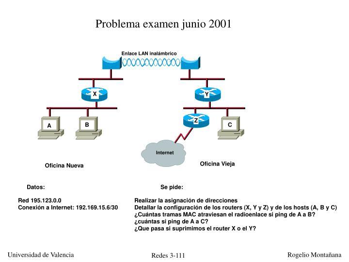 Problema examen junio 2001
