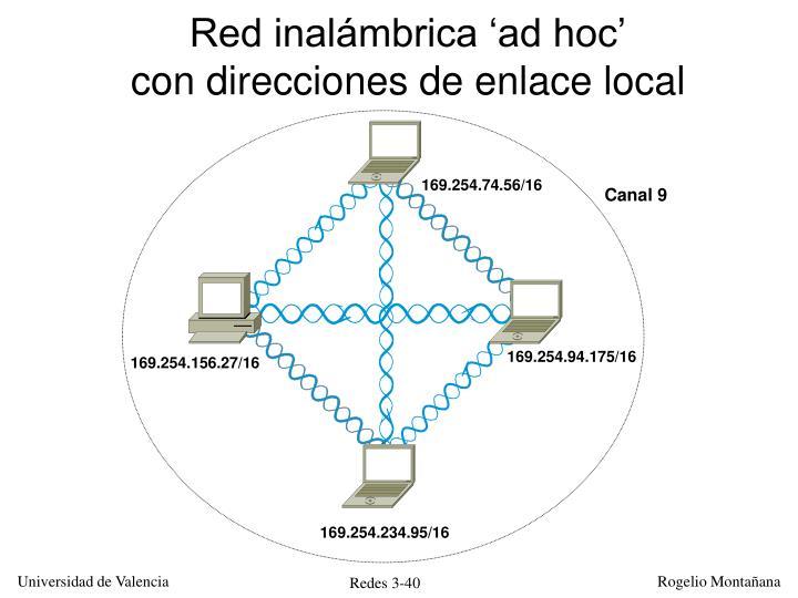 Red inalámbrica 'ad hoc'