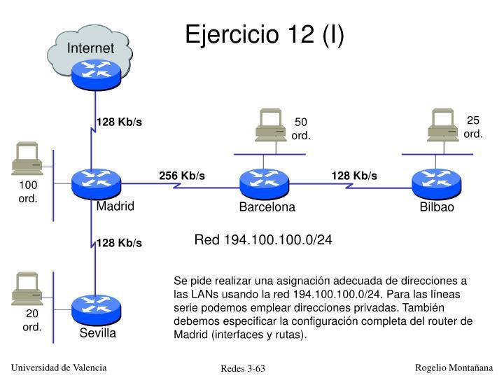 Ejercicio 12 (I)