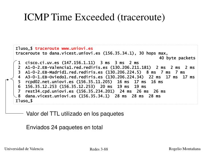 ICMP Time Exceeded (traceroute)