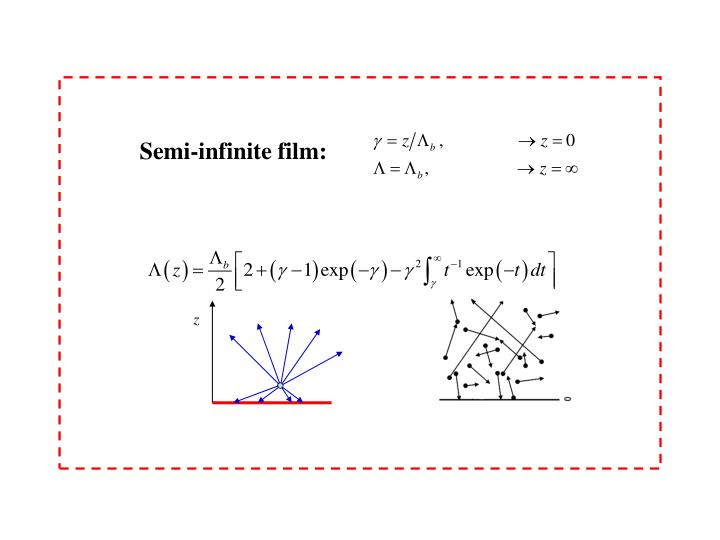 Semi-infinite film: