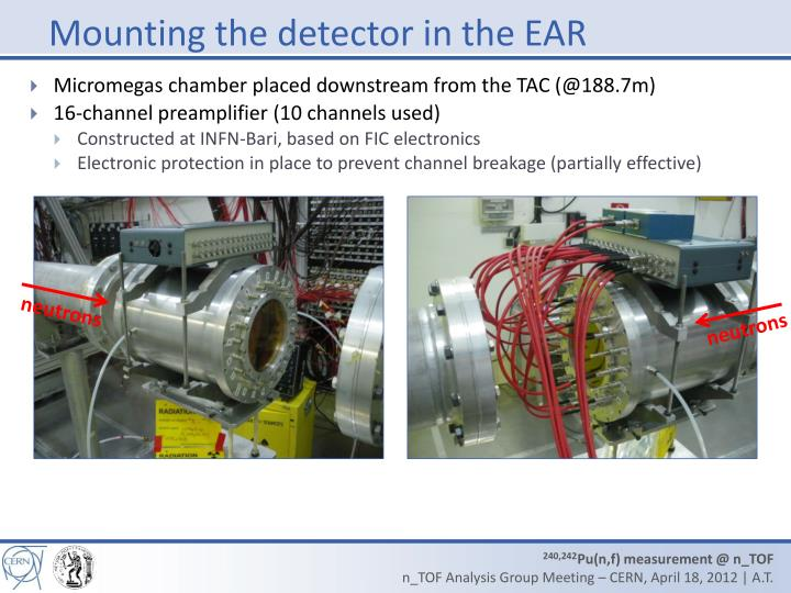 Mounting the detector in the EAR
