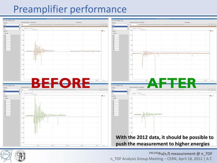 Preamplifier performance