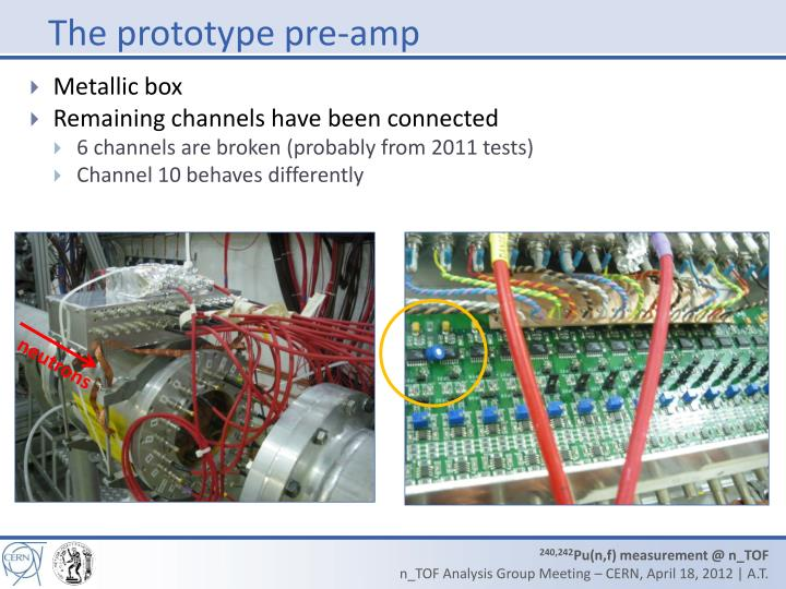 The prototype pre-amp