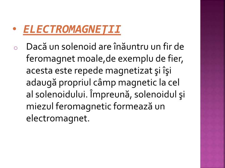 ELECTROMAGNEŢII