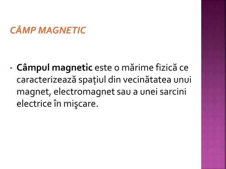 CÂMP MAGNETIC