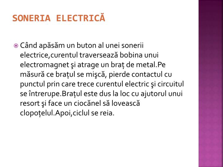 Soneria electrică