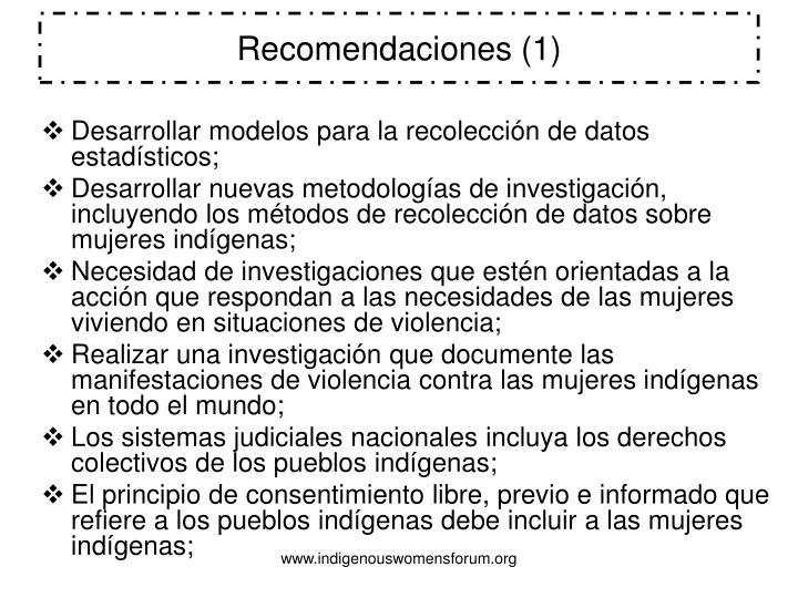 Recomendaciones (1)
