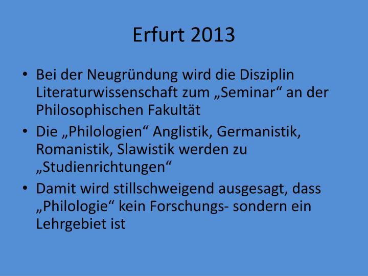 Erfurt 2013
