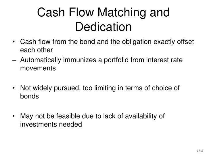 Cash Flow Matching and Dedication