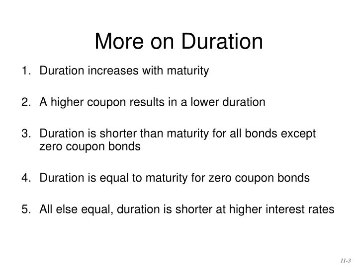 More on Duration