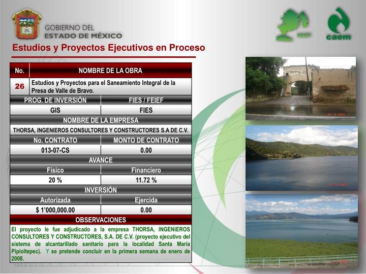 Estudios y Proyectos Ejecutivos en Proceso