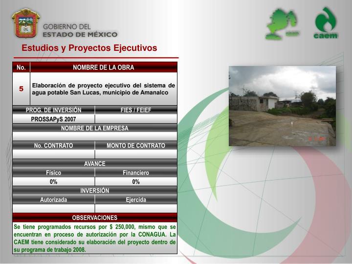 Estudios y Proyectos Ejecutivos
