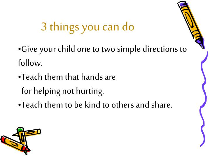3 things you can do