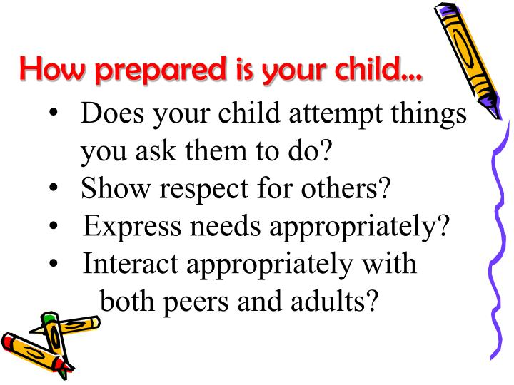 How prepared is your child…