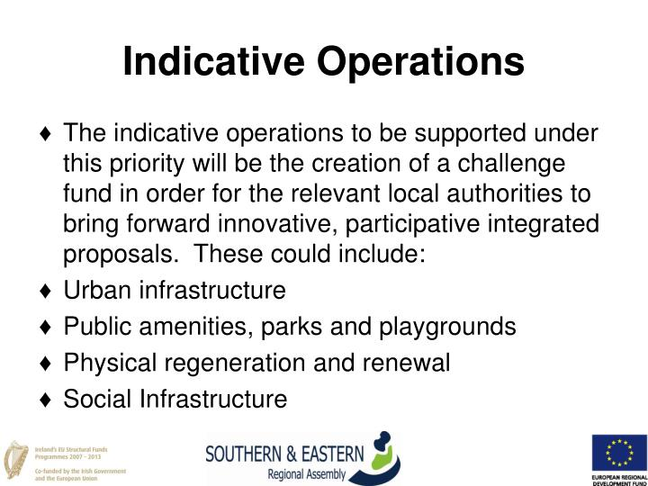 Indicative Operations