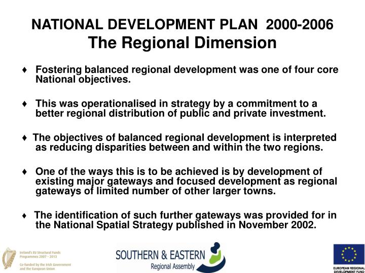 NATIONAL DEVELOPMENT PLAN  2000-2006
