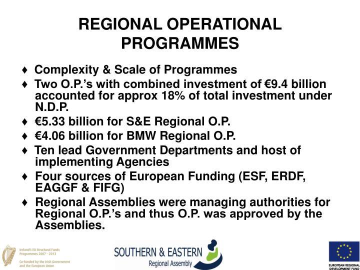 REGIONAL OPERATIONAL PROGRAMMES