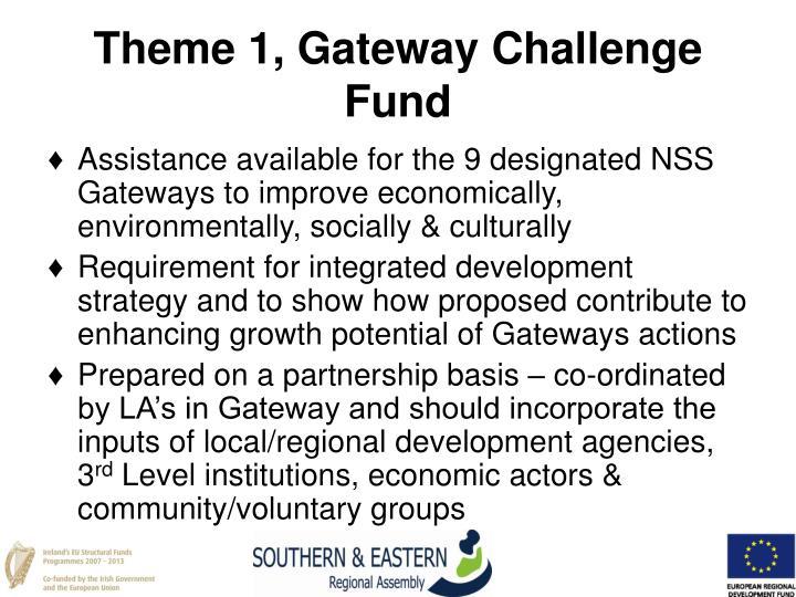 Theme 1, Gateway Challenge Fund