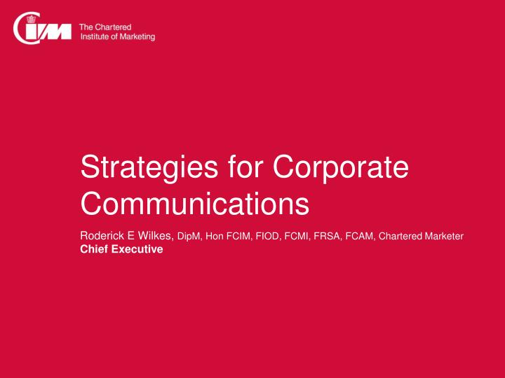 Strategies for Corporate