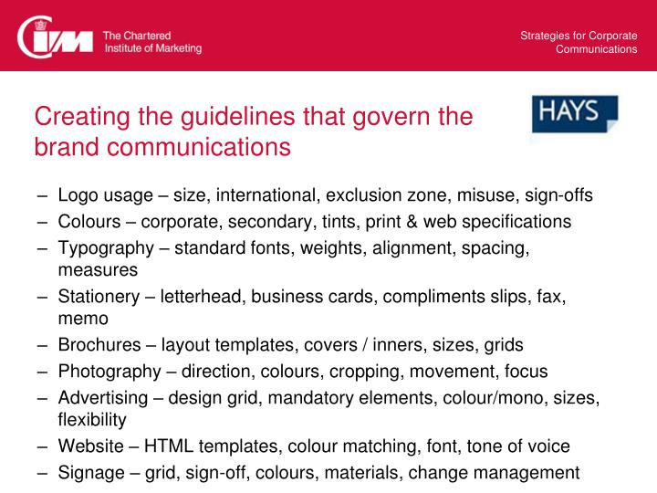 Creating the guidelines that govern the