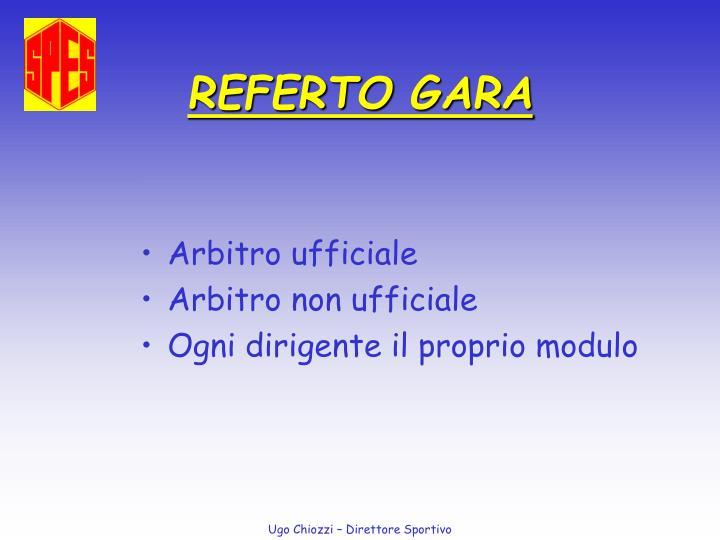 REFERTO GARA