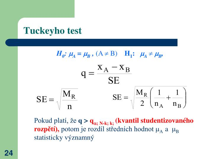 Tuckeyho test