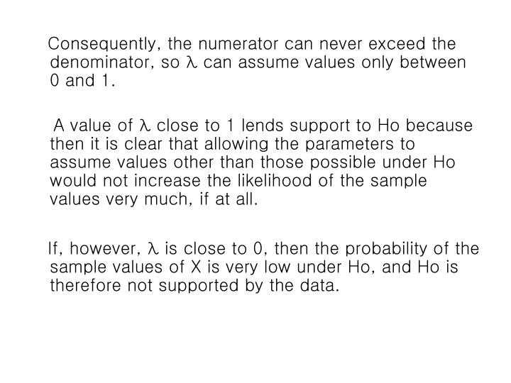 Consequently, the numerator can never exceed the denominator, so