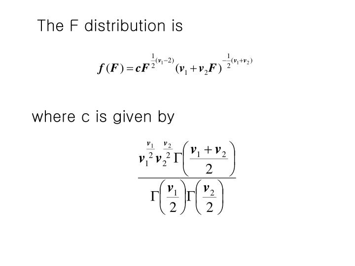 The F distribution is