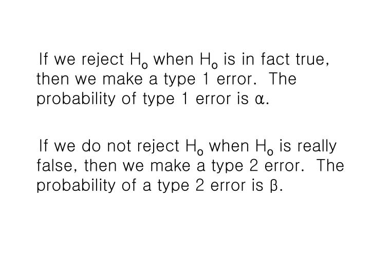 If we reject H