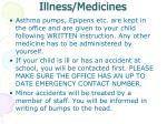 illness medicines