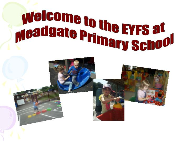 Welcome to the EYFS at
