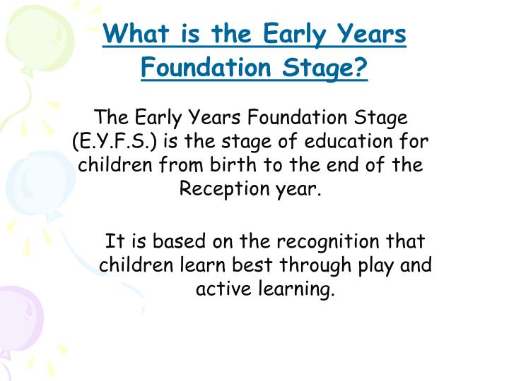 What is the Early Years