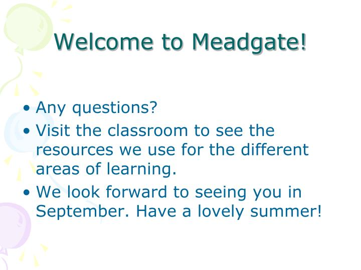 Welcome to Meadgate!