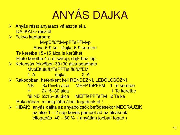 ANYÁS DAJKA