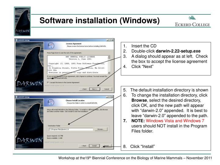 Software installation (Windows)