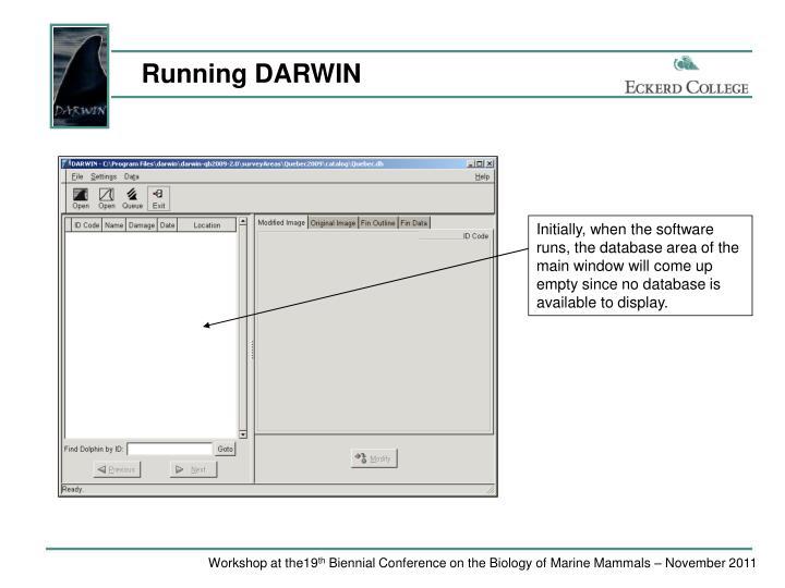 Running DARWIN