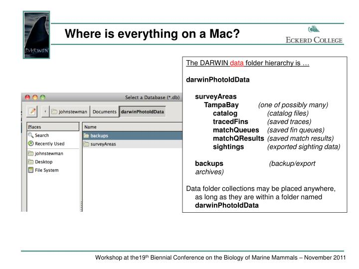 Where is everything on a Mac?