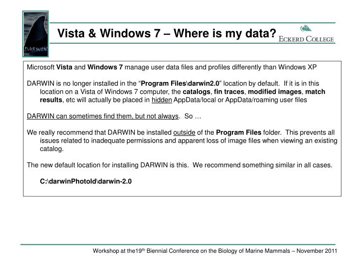 Vista & Windows 7 – Where is my data?